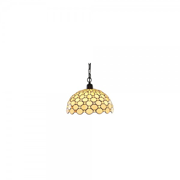 Searchlight 1268-12CL Tiffany Amber Raindrop Pendant