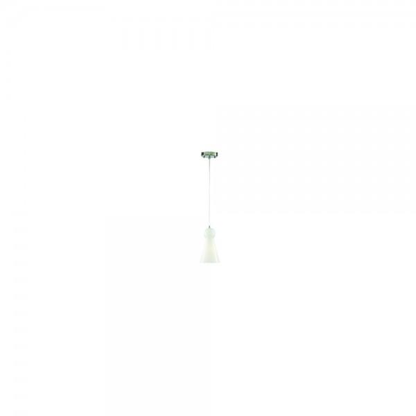 Searchlight 1440WH Skittle 1 Light White Glass Pendant Light