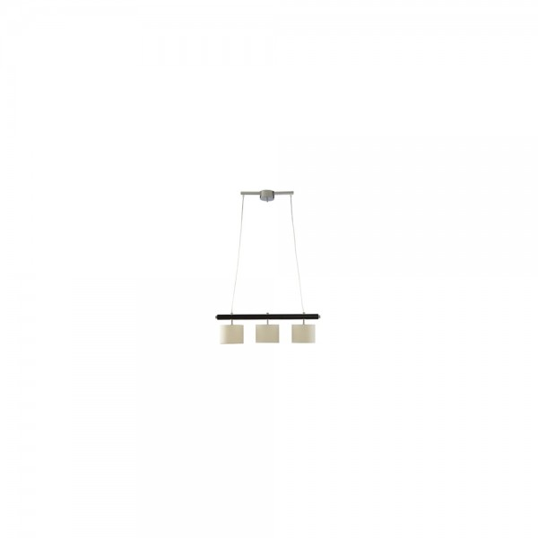 Searchlight 6038-3BK Nevada 3 Light Walnut Pendant with Shades