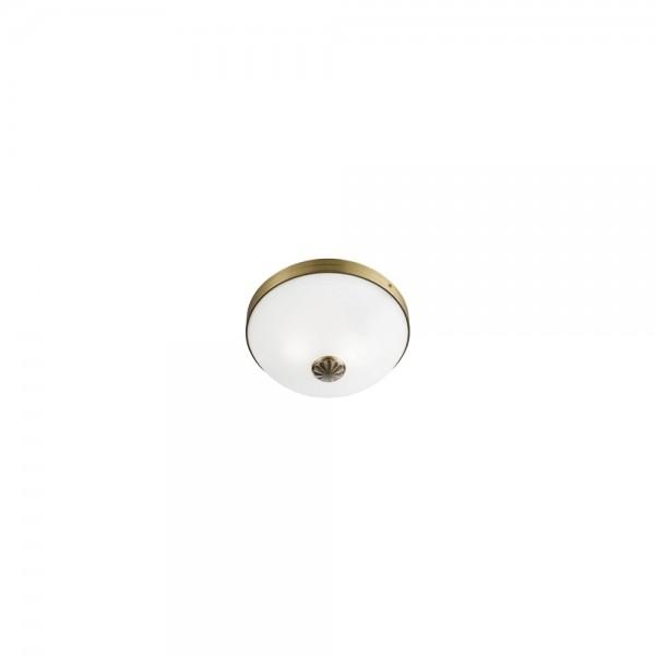 Searchlight 5772-2AB Windsor Antique Brass Flush Ceiling Light
