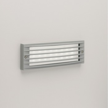 Astro Lighting 0946 Rib Painted Silver Exterior Grill Wall Light