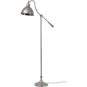Libra 037802 Satin Grey Floor Lamp