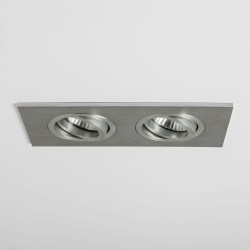 Astro Lighting 1240018 Taro Twin Adjustable Brushed Aluminium Downlight