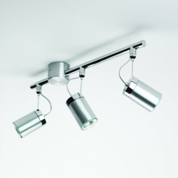 Astro Lighting 1259002 Montana Three Tube Brushed Aluminium Spotlight