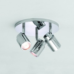 Astro Lighting 1282002 Como Triple Polished Chrome Bathroom Spotlight