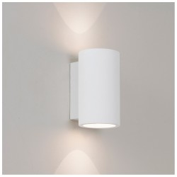 Astro Lighting 1287001 Bologna White Plaster Interior Wall Light