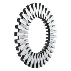 Libra 265019 Sunflower Round Mirror Inverted Pattern Bevelled Glass
