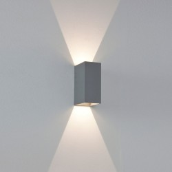 Astro 1298001 Oslo 160 Painted Silver Exterior Up and Down Wall Light