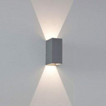 Astro Lighting 7060 Oslo 160 Painted Silver Exterior Up and Down Wall Light