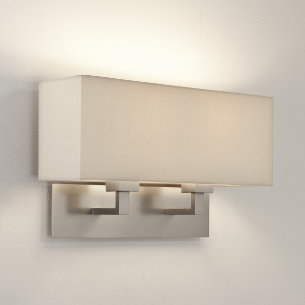 Astro 1080020 Park Lane Grande Twin Matt Nickel Wall Light