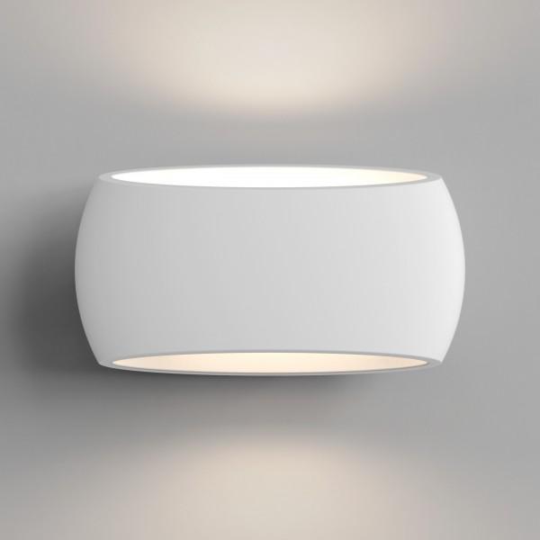 Astro Aria 300 1300001 White Plaster Interior Wall Light