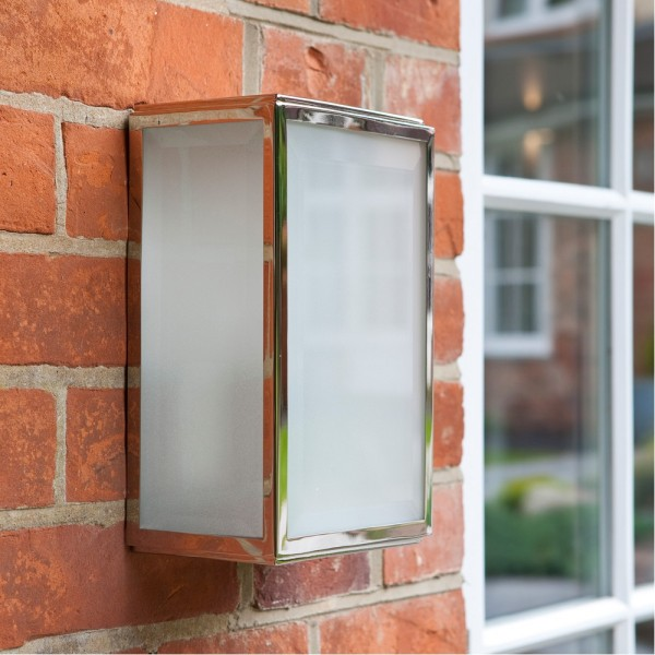 Astro Lighting 1095009 Homefield Nickel Frosted Exterior Wall Light