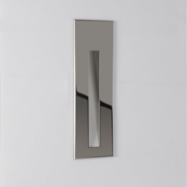 Astro Lighting 1212010 Borgo 55 IP65 Recessed Polished Stainless Steel Wall Light