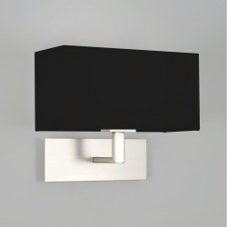 Astro 1080022 Park Lane Matt Nickel Wall Light Including Black Shade