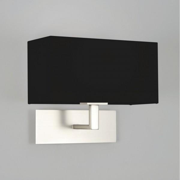 Astro 1080022 Park Lane Matt Nickel Wall Light Including Black Shade