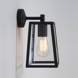 Astro Lighting 1306001 Calvi Black Exterior Modern Wall Lantern