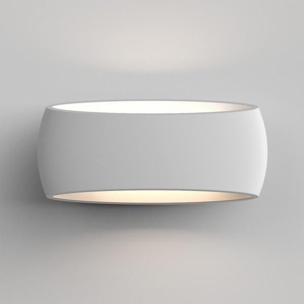 Astro 1300002 Aria 370 White Plaster Interior Wall Light