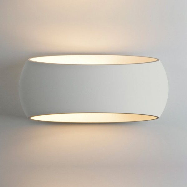 Astro Lighting 1300002 Aria 370 White Plaster Interior Wall Light