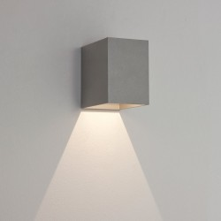 Astro Lighting Oslo 100 1298003 Painted Silver Exterior Wall Light