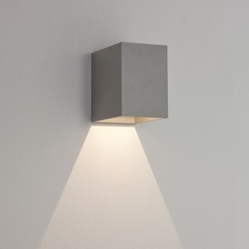 Astro Lighting Oslo 100 7108 Painted Silver Exterior Wall Light