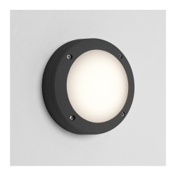 Astro Lighting 1309009 Arta 150 Round Textured Black Exterior Wall Light