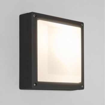 Astro Lighting Arta 7120 210 Square Black Exterior Bulkhead Light