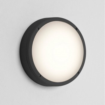 Astro Lighting 7122 Arta 275 Round Black Wall Light