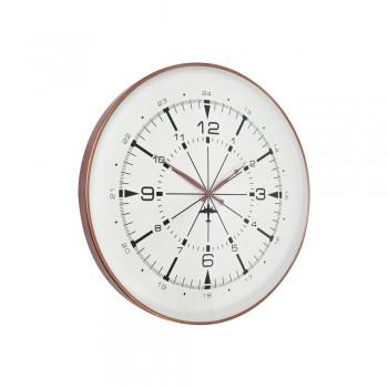 Libra 337518 Antique Copper Aviator Wall Clock