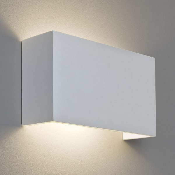 Astro 1315001 Pella 325 White Plaster Wall Up and Down Light