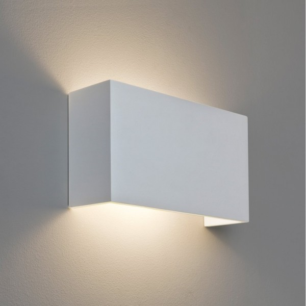 Astro Lighting 1315001 Pella 325 White Plaster Wall Up and Down Light