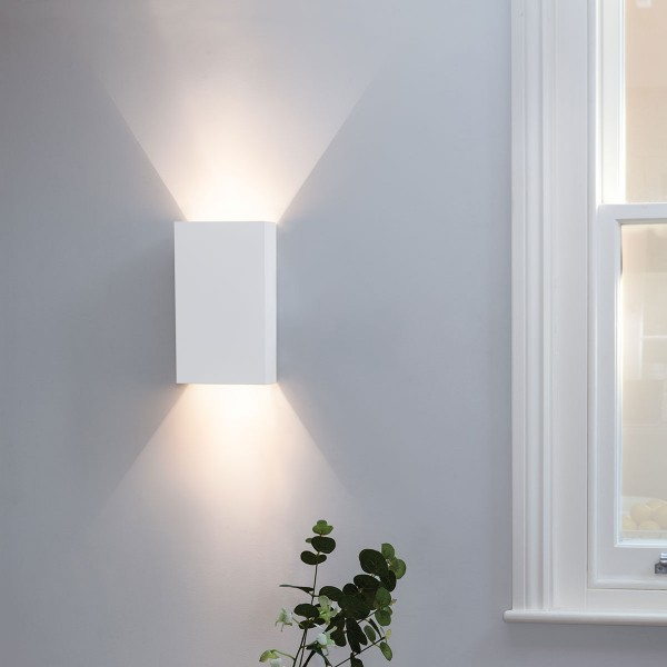 Astro 1315002 Pella 190 White Plaster Up and Down Wall Light