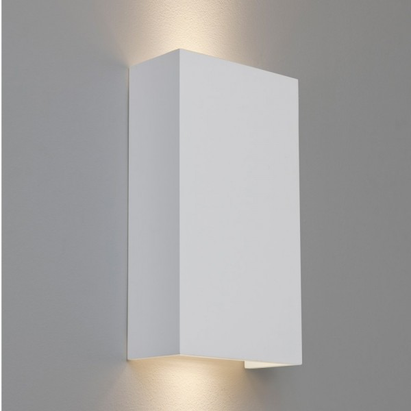Astro Lighting 1315002 Pella 190 White Plaster Up and Down Wall Light