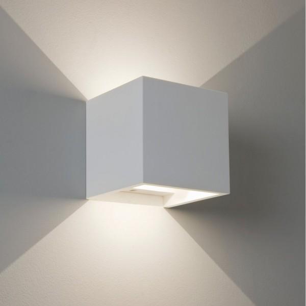 Astro Lighting 1196002 Pienza LED White Plaster Interior Wall Light