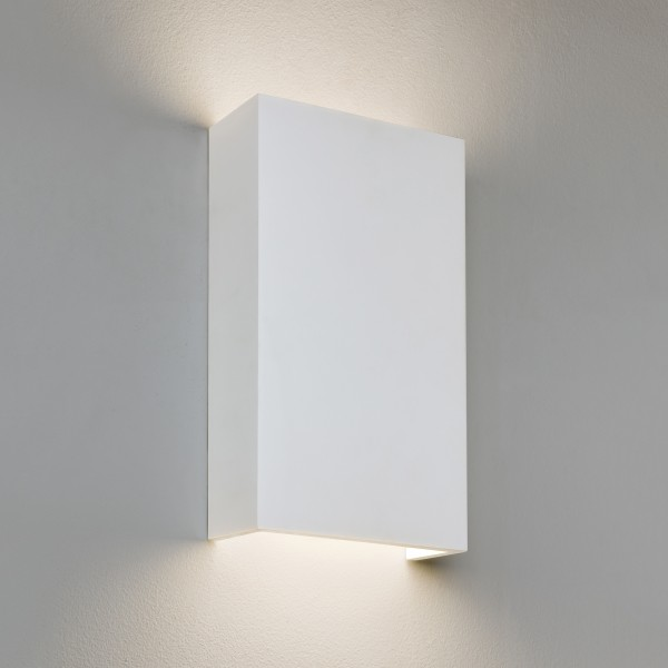 Astro 1325002 Rio 190 White Plaster Up and Down Wall Light