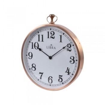 Libra 337545 Hursley Round Copper Wall Clock