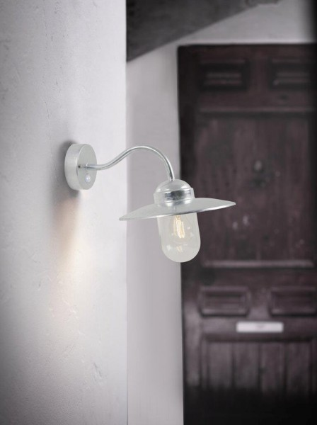 Nordlux Luxembourg 22661031 Galvanized Wall with sensor Light