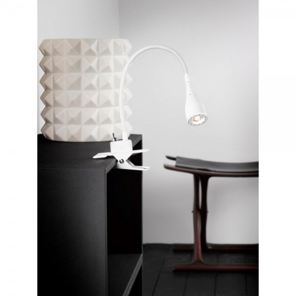 Nordlux Mento 75582001 White Clamp Spot Light